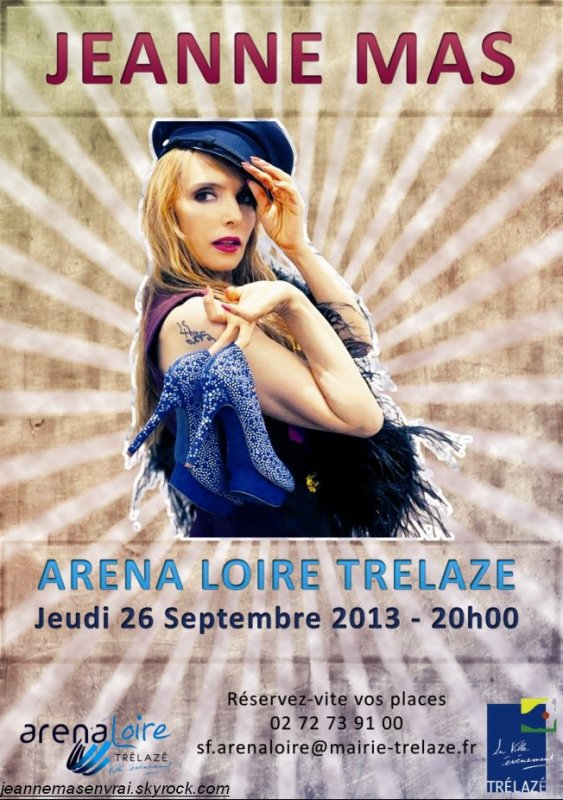 TOURNEE ETE 2013 !!! ]- JEANNE MAS en concert  ANGERS - Le 26 septembre 2013 ! 