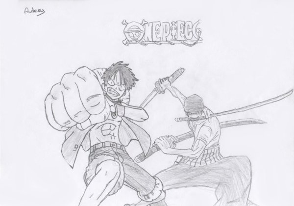 Dessin luffy zoro akiko drew book - Comment dessiner luffy ...
